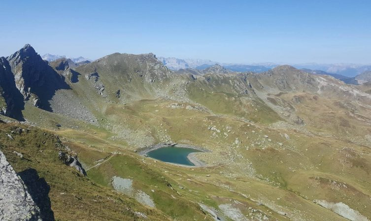The heart shaped lake next to Gjeravica