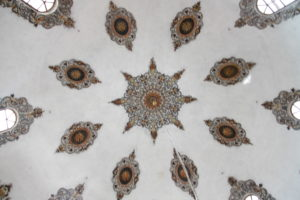 Mosque ceiling, of Bajrakli mosque in Peja