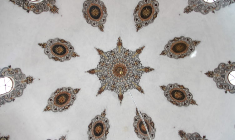 Mosque ceiling, of Bajrakli mosque in Peja