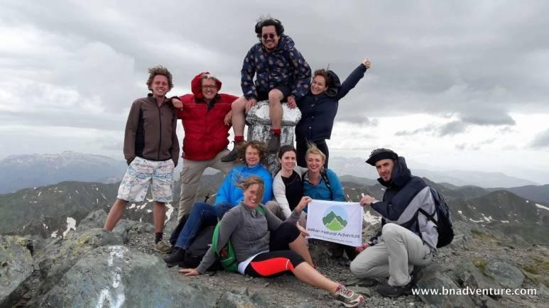 Hikers in Gjeravica