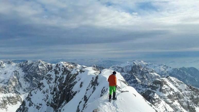 adriatik in top of the mountain in winter